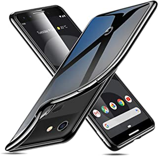 ESR Essential Twinkle Case Compatible for The Google Pixel 3, Slim Clear Soft TPU Cover, Black Frame