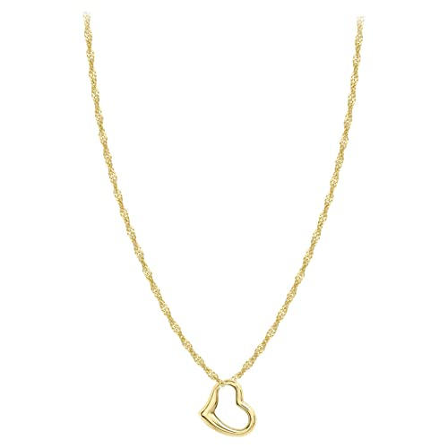 8a8f4795a48721 Carissima Gold Women's 9 ct Gold 12 x 14 mm Heart Slider Pendant on 9 ct