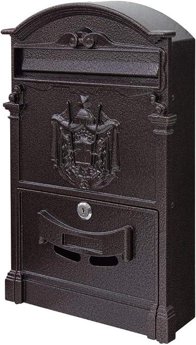 Retro Briefkasten Postkasten Mailbox Letterbox Zeitungsbox Wandmontage 30x23x6 cm Blaue gro/ße Buchstaben