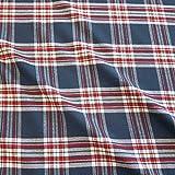Stoff Meterware Baumwolle Schottenkaro blau grau rot weiß