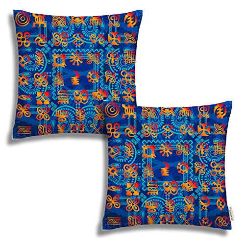 Fundas de almohada de 45,7 x 45,7 cm, diseño de tribales africanos