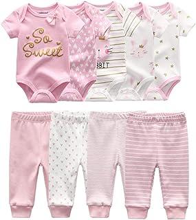 Unisex Newborn Baby Short-Sleeve Bodysuit Baby Layette...
