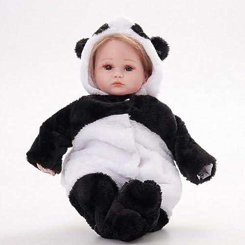 SHTWAD Reborn Baby Puppe Simulation Realistische Tuch   Weißen Silikon Niedlichen Acryl Augen Mohair Jungen mädchen Spielzeug Festival Geschenk 16.5 Zoll