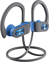 Mpow Flame Bluetooth Headphones V5.0 IPX7 Waterproof Wireless headphones,Bass+ HD Stereo Wireless Sport Earbuds, 7-9Hrs Playtime, cVc6.0 Noise Cancelling Mic for Home Workout,Running,Gym Blue Grey