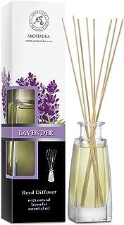 Parfum d'ambiance avec huile essentielle naturelle à la lavande 100 ml avec bâtonnets en rotin – Sans alcool – Meilleur dé...