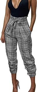 LHWY Hosen Damen High Waist Frauen Bogen Gitter Lose Lange Hose Sommer Vintage Lässig Partyhosen Mode