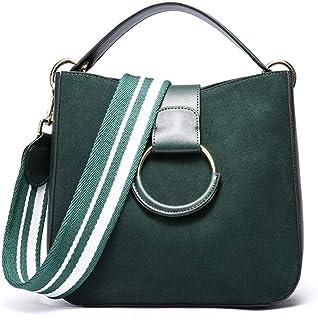 Shoulder Bag Women's Retro Fashion PU Soft Leather Bag Large Capacity Single Shoulder Slung Handbag Built-in Small Bag Handbag Clutch (Color : Green)