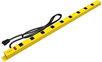 Stanley 31615 NCC31615 ShopMAX Pro 9-Outlet Surge-Protector Power Bar, 6-Foot Cord, Yellow