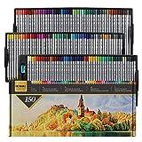 GC 150 Lápices de colores : perfectos para colorear, dibujar, sombrear y hacer bocetos, tacto suave premium, mina de 4 mm, resistentes a roturas, mezclables, sin ácido, libros para colorear GC-CP-150