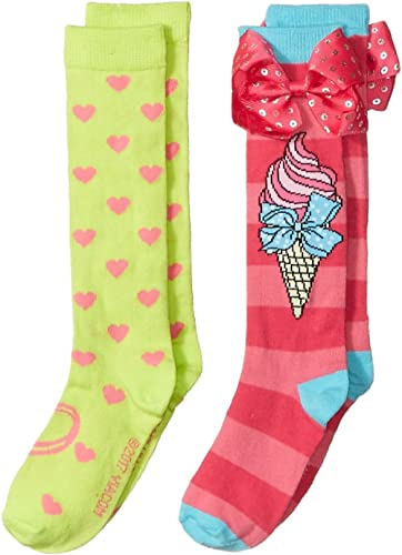 JoJo Siwa Girls 2 Pack Knee High Socks