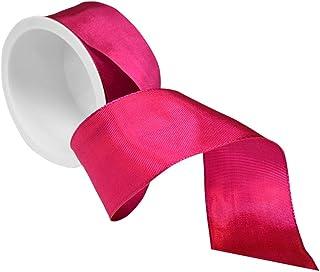 Morex Ribbon 1-1/2-Inch by 4-Yard Spool French Wired Lyon Ribbon, Magenta