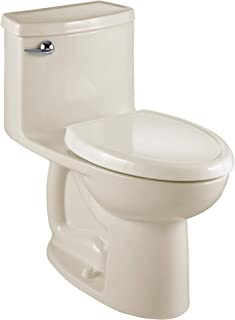 American Standard 2403128.222 Compact Cadet 3-FloWise Tall Height 1-Piece 1.28 GPF Single Flush Elongated Toilet with Seat, Linen