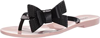 Melissa Shoes Women's Harmonic Bow V Pink/Black 6 M US