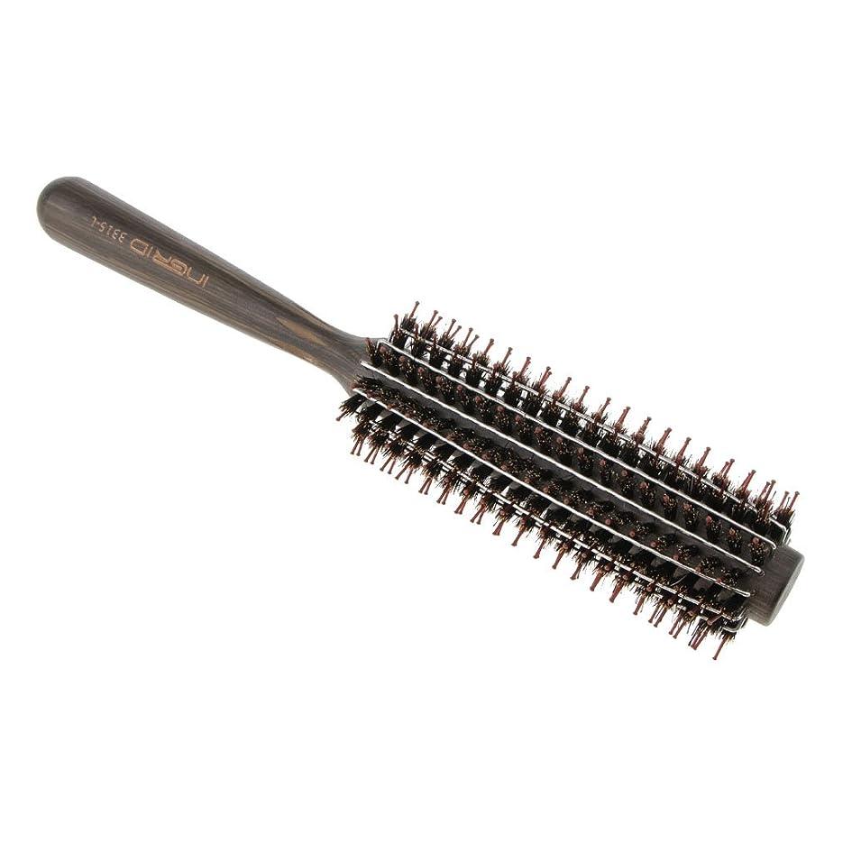 減らすスムーズにバーガーPerfk ロールブラシ ヘアブラシ カール 巻き髪  ヘアコーム 3サイズ選べる  - L