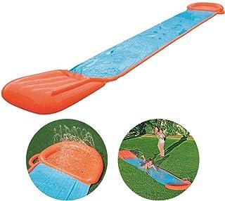 HDJSA 5.49 X 2.08m Tobogán de Agua Pista Deslizante Hinchable Deslizador acuático para jardín con rociador para Niños Juegos De Piscina De Patio