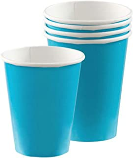 Amscan Caribbean Blue Paper Cups 266ml-8 pcs,10022514