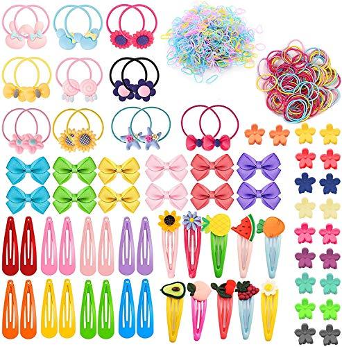 628 Pièces Ensemble D'accessoires Cheveux Filles, Pinces à Cheveux, Barrettes à Pression et Anti Glisse pour Bébés Filles