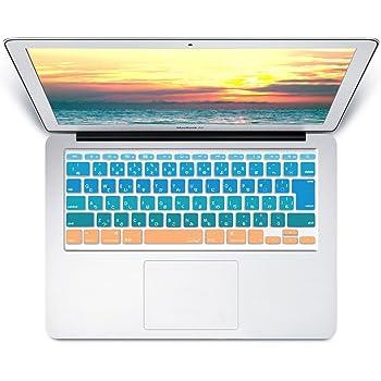 MS factory MacBook Air 11 キーボード カバー 日本語 JIS配列 Air11 インチ キーボードカバー RMC series Sunrise グラデーション カラー RMC-KEY-A1-SUNRISE