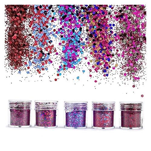 VIAIA 4 unids Rojo Bling Bling Lentejuelas de Resina joyería Rellenos Mezcla para Manualidades de Resina Festiva Festiva Resina de Resina Pigmento joyería (Color : D)