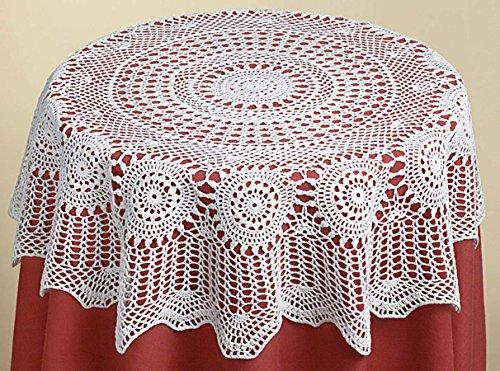"""Annie's Treasures Table Topper All Crochet 36"""" Square Ecru"""
