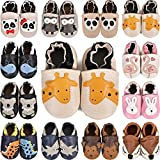 Zapatos de Cuero Suave para bebés Sandalias para niños y niñas Niños Primeros Pasos Antideslizante Niño 0-6 Meses hasta 24