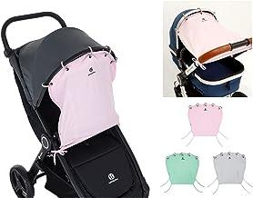 Petite&Mars SHADY  UV 40  Universal Sonnenschutz/Sonnensegel/Sonnenblende für Kinderwagen und Babyschale PASTEL PINK