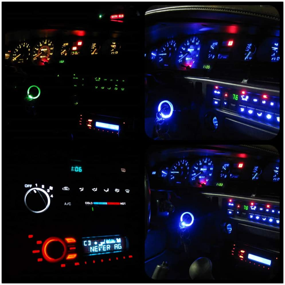 WLJH Green T3 Led Neo Wedge Bulb Instrument Dash Dashboard A//C Climate Control Light Lamp For Honda Civic Odyssey 2001-2010 Pack of 10