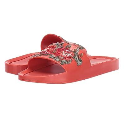 Melissa Shoes Beach Slide Flower (Red Warm) Women