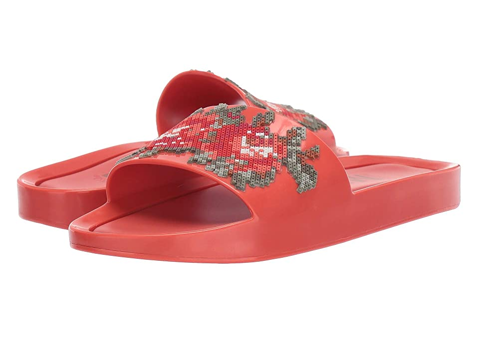 Melissa Shoes Beach Slide Flower (Red Warm) Women