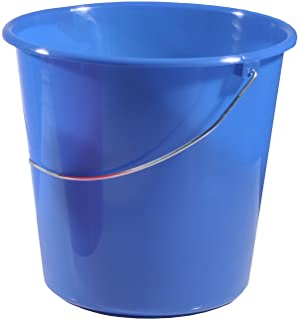 Campingeimer 10 L Putzeimer blau Wassereimer rund faltbar Kunststoff ausstülpbar