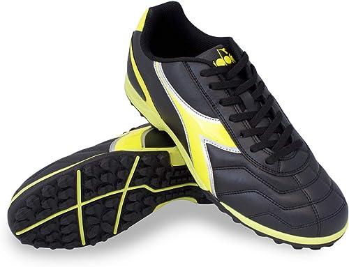 Diadora Men's Capitano TF Turf Soccer zapatos (9 D(M) US, negro amarillo)