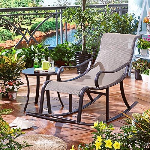 AIMCAE Mecedora Relax, sillas de jardín de Gravedad Cero con Mesa de Centro, Tumbona, Soporte de 330 Libras, sillón reclinable, tumbonas de Lujo para Exteriores/Interiores
