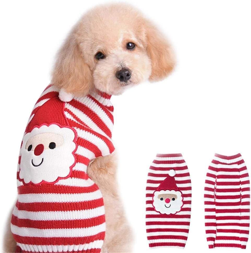 NACOCO Santa Claus Sweater Pet Sweaters Dog Xmas Holiday Alternative Daily bargain sale dealer