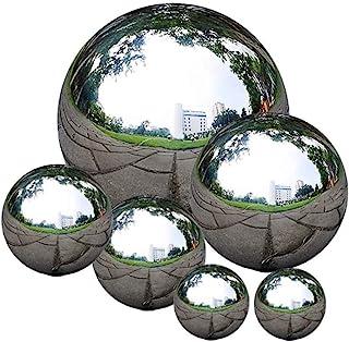 Romote Tuinspiegel bal,Roestvrij staal Gazing Ball Naadloze Gazing Globe Spiegel Gepolijst Holle Ball Reflecterende Tuin S...