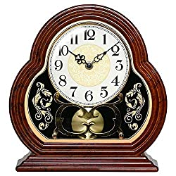 Winne Retro Table Clock 10 Inches Silent Suitable for Living Room Arabic Numerals Easy to Read