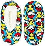Pokemon Pikachu AOP Boys Fuzzy Babba Slippers (Medium/Large)