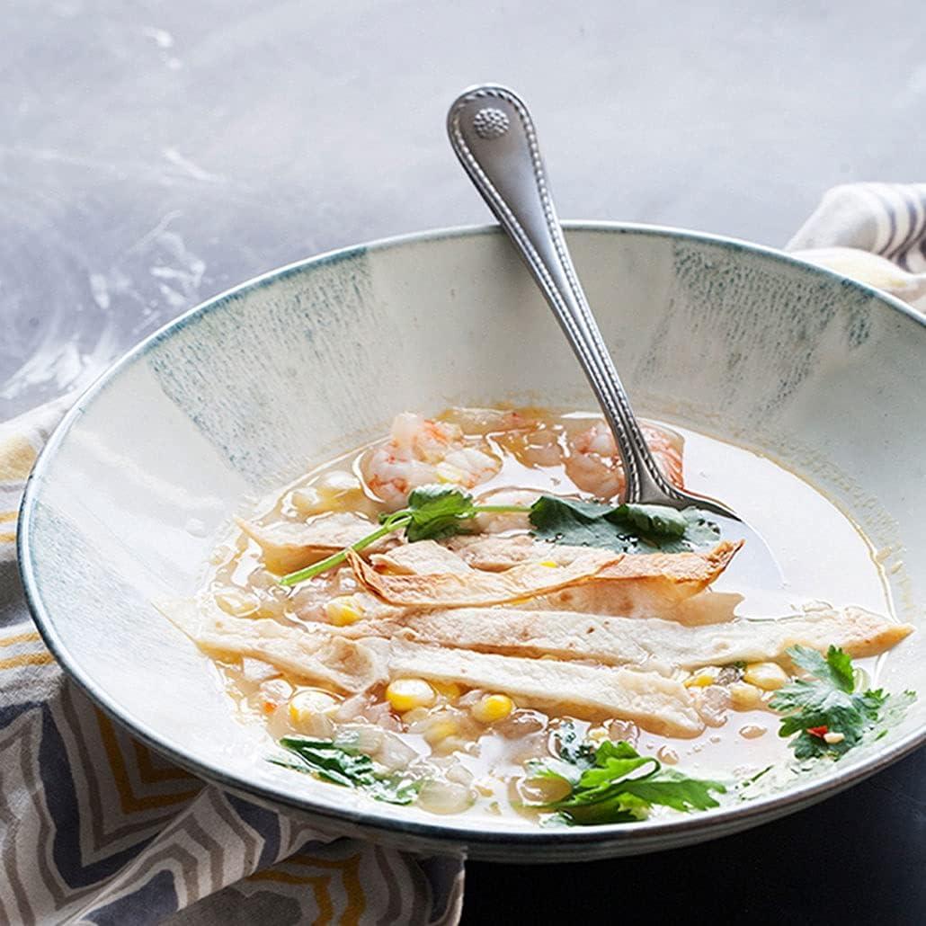 Creative High quality new Ceramic Bowl Salad Noodle Bargain sale Large Househo Retro