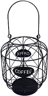 Baoblaze Panier de Rangement de de Café, Panier de Fil En Métal - Noir