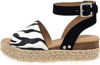 397013c0e11768 IVYSHION Sandali Donna Zeppa Estivi Espadrillas donna platform con tacco  sandali punta aperta,elegante e
