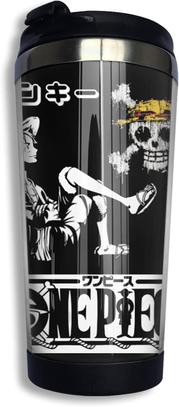 One Piece Monkey D Luffy Anime Elegant Coffee Print Cup Thermos Long Beach Mall F Mug 3d