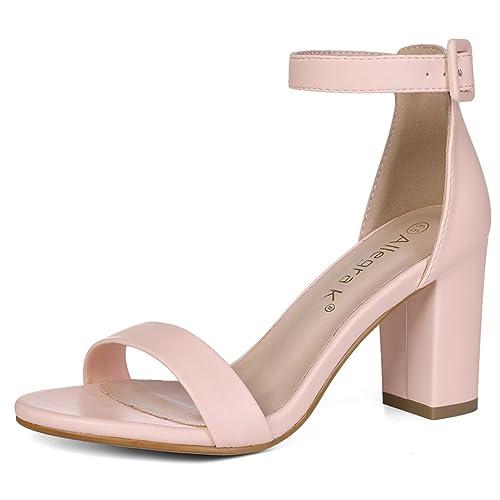 9f9ee3731e7 Allegra K Women Open Toe High Chunky Heel Ankle Strap Sandals