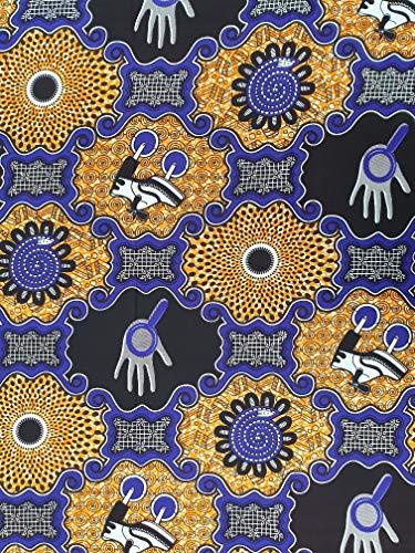 Afro-Design Print Stof - 6 Yards Pack - 5,5 m x 1,2 m - Ankara Stof voor het maken van kleding, schommelen en decoreren