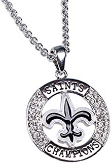 new orleans saints necklace pendant