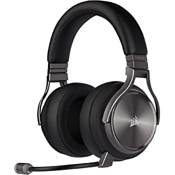 Corsair Virtuoso RGB Wireless SE Gaming Headset - High-Fidelity 7.1 Surround Sound w/Broadcast Quality Microphone - Memory Foam Earcups - 20 Hour Battery Life Works w/ PC, PS5, PS4, Xbox One -Gunmetal