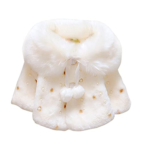 2f1f7dde7a3f8 Brightup Baby Girl Faux Fur Warm Winter Cape Cloak Coat Outwear