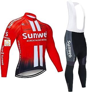 Bike Maglie e Pantaloni con Bretelle da Ciclismo Invernali da Uomo con Imbottitura in Gel per Ciclista MTB dal principiante al Professionista