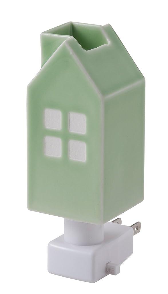 クレデンシャル形成可動式イシグロ デザイン小物 W4.8×D4.8×H13cm ハウスアロマライトコンセント型 ライトグリーン 20077