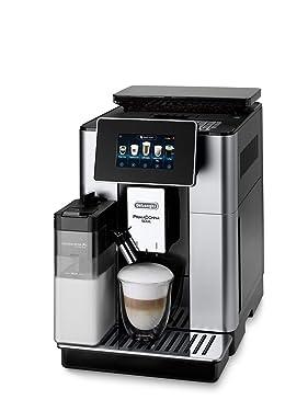 De'Longhi PrimaDonna Soul ECAM 612.55.SB Kaffeevollautomat mit Milchsystem & Bean Adapt Technologie, Cappuccino und Espresso auf Knopfdruck, 4,3 Zoll TFT Farbdisplay und App-Steuerung, silber