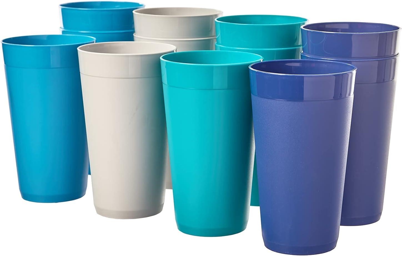 Newport 20-ounce Unbreakable Plastic Tumblers   set of 12 in 4 Coastal Colors