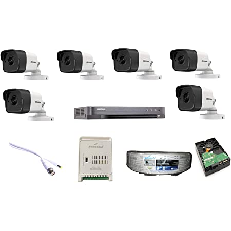 HIKVISION Full HD 5MP Cameras Combo KIT 8CH HD DVR+ 6 Bullet Cameras +2TB Hard DISC+ Wire ROLL +Supply & All Required Connectors